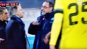 """Mancini gay"", Sarri: ""Nel calcio ci sta"". Verso stop 4 mesi"