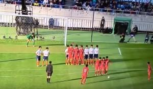 YOUTUBE Giappone, lo schema del gambero su punizione