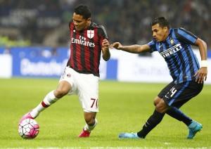 Guarda la versione ingrandita di Milan - Inter, Bacca e Murillo nella foto LaPresse