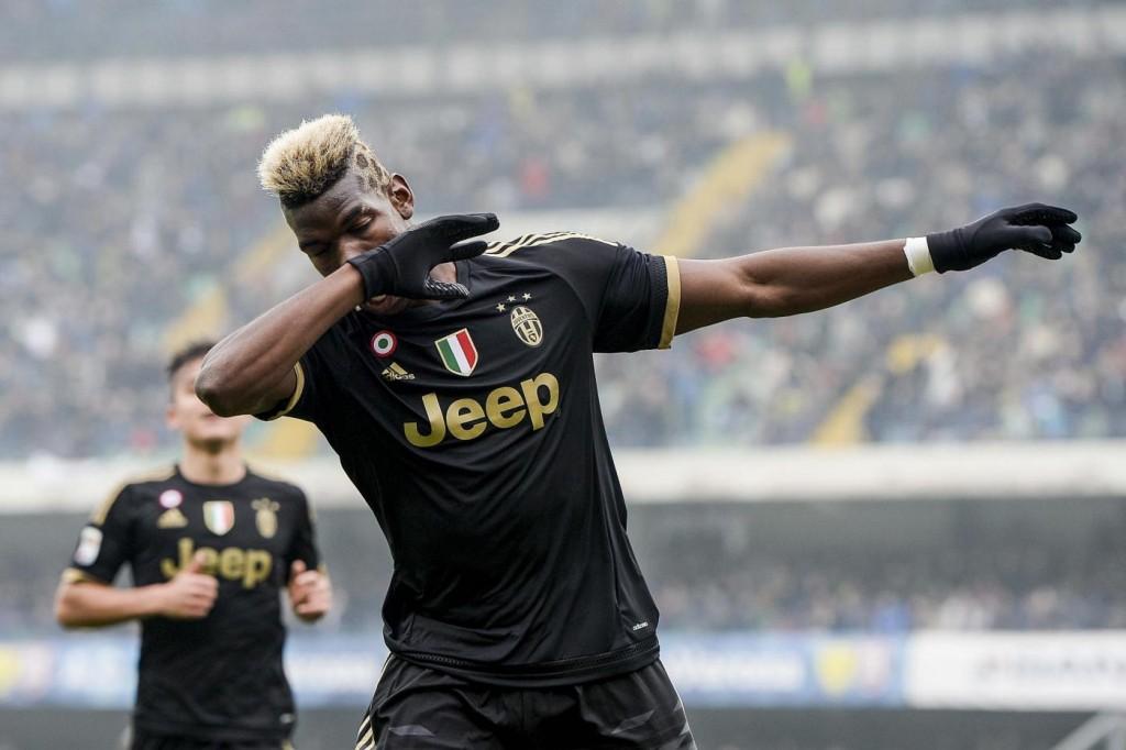 Chievo - Juventus, esultanza bianconera nella foto LaPresse