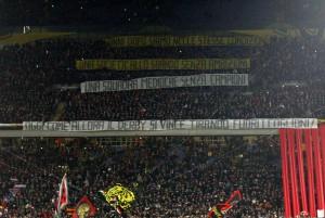Guarda la versione ingrandita di Milan - Inter, striscioni-coreografie derby (foto LaPresse)
