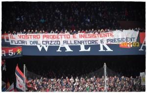 Guarda la versione ingrandita di Genoa, Preziosi con Gasperini contro ultras