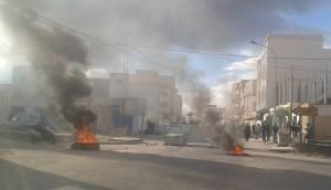 Le proteste a Kasserine