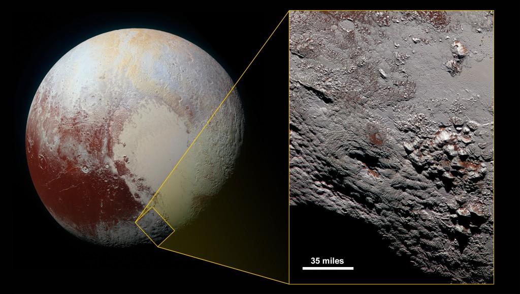Vulcano su Plutone: ghiaccio al posto della lava FOTO