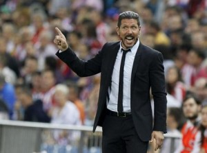 Guarda la versione ingrandita di Real - Atletico, Simeone nella foto Ansa