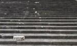 Roma, danni a scalinata Palazzo della civiltà Italiana FOTO