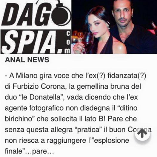 """Fabrizio Corona e il """"ditino"""". Silvia Provvedi smentisce 02"""
