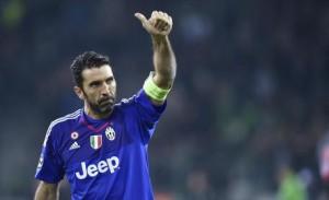 Guarda la versione ingrandita di Juventus, Buffon nella foto Ansa
