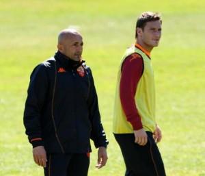 Roma, Totti-Spalletti: lungo colloquio dopo allenamento