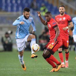 Lazio-Galatasaray, fasi di gioco (foto Ansa)