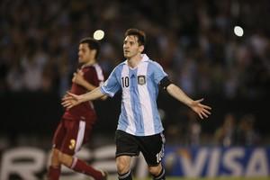 Il fuoriclasse dell'Argentina nella foto Ansa