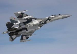 Guarda la versione ingrandita di Il caccia russo Sukhoi Su-35s