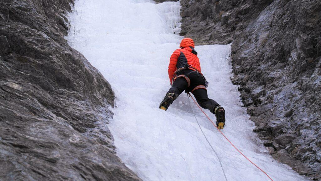 Ice climbing Val Varaita