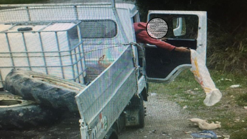 Cuccioli cane nel sacco di plastica lanciati da furgone3
