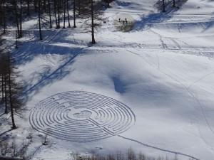 Guarda la versione ingrandita di Cerchi nella neve in Valle d'Aosta