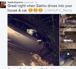 Guarda la versione ingrandita di Diafra Sakho del West Ham distrugge Lamborghini da 250mila €