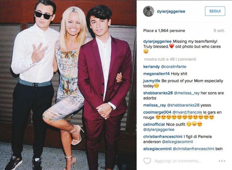 Dylan, figlio Pamela Anderson posa per Saint Laurent3