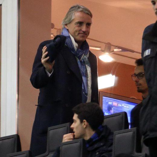 Inter, Mancini nella foto Ansa