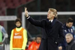 Guarda la versione ingrandita di Inter - Chievo, Mancini nella foto LaPresse