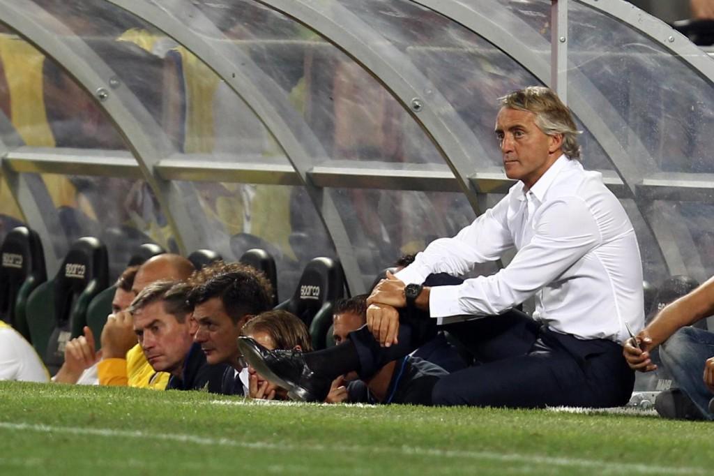 Inter - Chievo, Mancini nella foto LaPresse