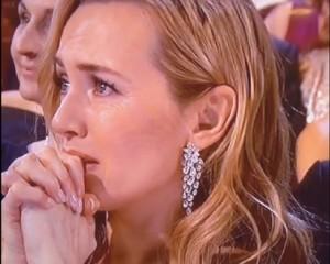 Kate Winslet e la reazione commossa per l'Oscar a Leonardo DiCaprio