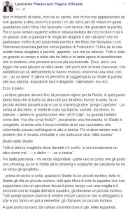 Leonardo Pieraccioni, lettera per Francesco Totti FOTO