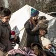 Profughi nel fango, combattono neve e gelo tra le baracche11