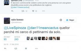 Ezio Bosso e la risposta ironica al tweet di Spinoza