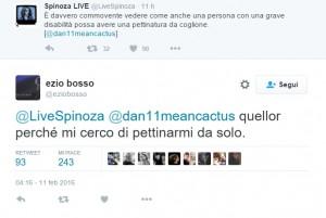 Guarda la versione ingrandita di La battuta di Spinoza e la bellissima risposta di Ezio Bosco