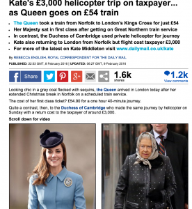 Guarda la versione ingrandita di L'articolo critico del Daily Mail