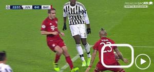 Guarda la versione ingrandita di Juventus-Bayern, il fallo di mano di Vidal nelle immagini di Mediaset Premium