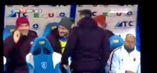 Totti show in panchina