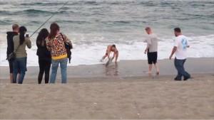 Squalo trascinato fuori dall'acqua per un selfie 7