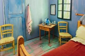 Guarda la versione ingrandita di Van Gogh: stanza quadro in affitto su Airbnb a 9 euro FOTO