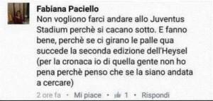 """Tifosa Napoli: """"La Juventus si merita un altro Heysel"""""""
