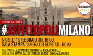 """Affittopoli Milano. M5s: """"204 mln mai riscossi dal Comune"""""""