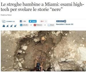 Streghe bambine di Albenga: ultimi studi dicono che...