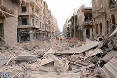 Aleppo bonbardata