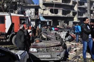 Guarda la versione ingrandita di Siria, tregua violata dopo poche ore: esplosione a Salamiyeh (Foto archivio Ansa)