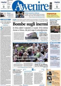 Guarda la versione ingrandita di Unioni civili, Siria: prime pagine dei giornali