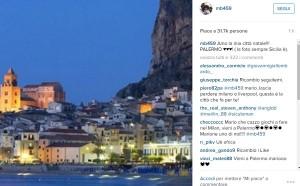 """Balotelli, nuova gaffe: """"Amo mia Palermo"""", ma foto è di..."""