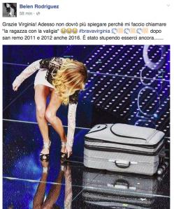 Belen Rodriguez: Brava virginia Raffaele. Ma la foto...