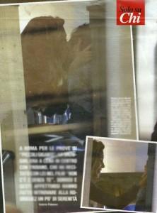 Belen Rodriguez bacia Fabio Troiano: la cena tra amici...
