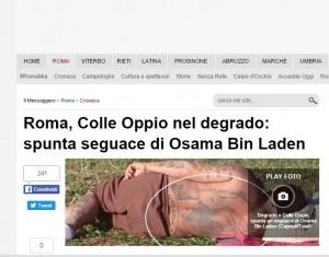 Bin Laden a Roma. Incredibile tatuaggio del seguace FOTO