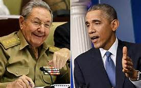 Barack Obama e Raoul Castro