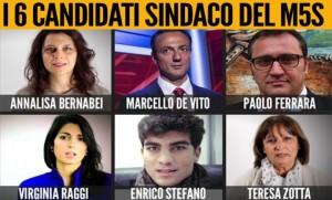 M5s sindaco Roma, 6 candidati: in testa De Vito e Raggi