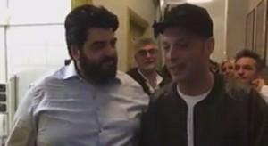 YOUTUBE Cannavacciuolo e Clementino, siparietto a Sanremo