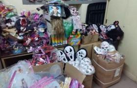 Sequestrate 20mila maschere rischio tossine<br /> Allarme a Napoli per i costumi di Carnevale