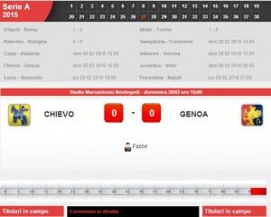 Chievo-Genoa: diretta live su Blitz con Sportal