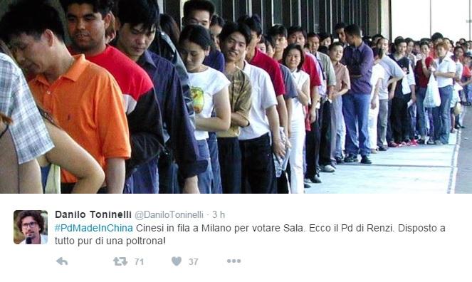 Milano, Toninelli (M5s) posta foto cinesi in fila ma è...